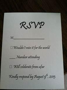 Responding To A Wedding Invitation