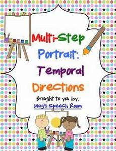 multi step directions worksheets 11737 multistep portrait temporal directions speech therapy activities receptive language speech