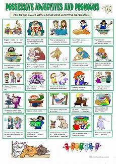 possessive adjective pronouns english esl worksheets for distance learning and physical