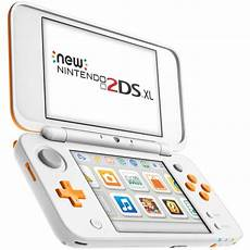 new nintendo 2ds xl white and orange nintendo official