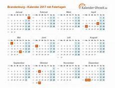 Feiertage 2017 Brandenburg Kalender