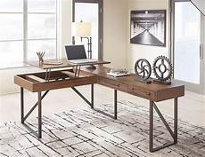 best home office furniture starmore lift top l shaped home office set signature