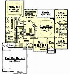 2300 square foot house plans european style house plan 3 beds 2 50 baths 2300 sq ft