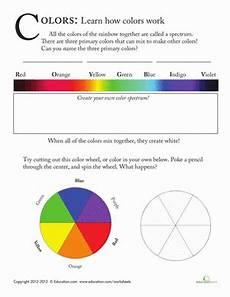 colors spectrum for worksheet color spectrum for worksheet education