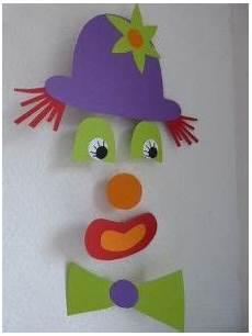 clown malvorlagen ausdrucken selber machen mobile clown artisanat de carnaval bricolage hiver
