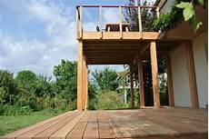 terrasse suspendue la terrasse en bois sur pilotis une