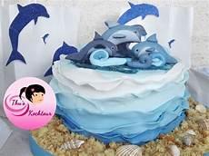 Fondant Torte Kindergeburtstag - eng sub childs birthday cake dolphin cake delphin