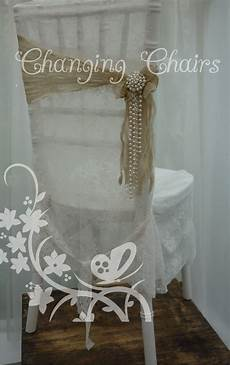wedding chair covers vintage modern vintage wedding with lace chair covers sashes