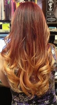 couleur de cheveux cuivré doré ombr 233 violet to caramel ends hair