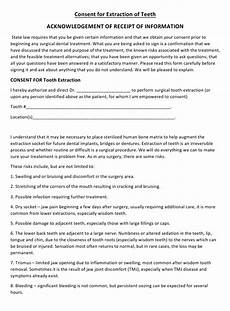 dental extraction consent form download printable pdf templateroller