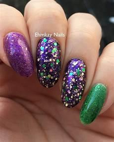 ehmkay nails mardi gras nail art