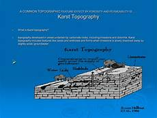 karst topography a common topographic