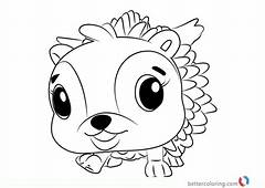 Hedgyhen From Hatchimals Coloring Book  Free Printable
