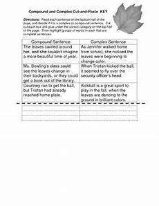 writing sentences worksheets for 5th grade 22097 5th grade grammar worksheet key compound and complex sentences cut and paste