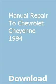 chilton car manuals free download 1994 chevrolet caprice electronic throttle control manual repair to chevrolet cheyenne 1994 chevy models chilton repair manual chevrolet
