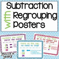 subtraction regrouping posters by erin stephan snazzy in