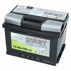 Autobatterie 60 Ah - autobatterie ultra start 12v 60ah 520a en autobatterien