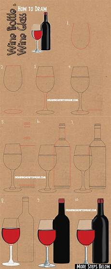 How To Draw A Wine Bottle Drawing Tutorial Easy