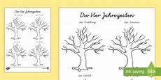 Jahreszeiten Baum Ausmalbild Der Jahreszeiten Baum Arbeitsblatt Lesen Und Four