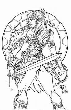xena warrior princess pant egli inks by surftiki on