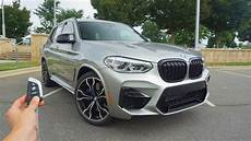 bmw x3 m paket 2020 bmw x3 m competition start up exhaust test drive