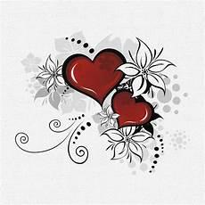 Malvorlage Herz Mit Blumen Poster Fototapete Selbstklebend Herz Blumen Ebay