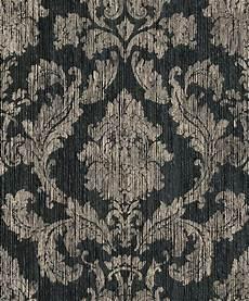 barock tapete schwarz tapete barock klassik papiergarn schwarz 077819