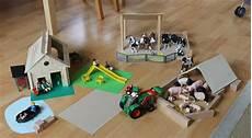 Sachen Aus Holz Bauen - holz bauernhof f 252 r schleich tiere selber bauen spiele