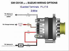 187 Gm Cs130 Cs144 Alternator Wiring Plfs 2 Wire Gm
