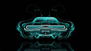 Dodge Charger Muscle Retro Back Fire Abstract Car 2014