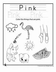 color pink worksheet woo jr kids activities