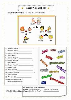 family worksheets free 18612 4 connect level 2 family vocabulary worksheet
