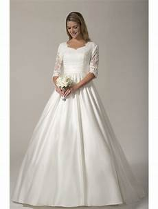 modest wedding gowns with 3 4 sleeves 2017 vintage modest wedding dresses with 3 4 sleeves