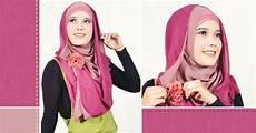Cara Memakai Jilbab Pashmina 2 Warna Cara Memakai