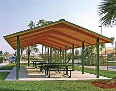 Wood Single Roof Rectangle Pavilions