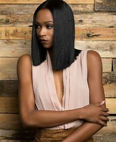 long bob hairstyle for black women ebony hair trendy