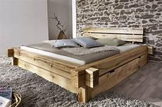 Massivholzbett Mit Bettkasten - sam 174 balkenbett 200x200 massivholzbett mit bettkasten