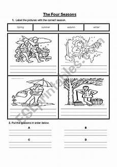 4 seasons printable worksheets 14847 the four seasons esl worksheet by jewells