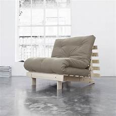 poltrona letto futon poltrona letto futon roots karup in legno grezzo