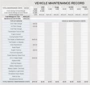 Free Vehicle Maintenance Log / Service Sheet Templates