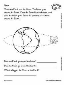 the earth moon and sun worksheets 14414 earth and moon facts worksheet for 2nd 3rd grade lesson planet