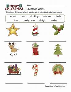 worksheets christmas word playing with a new language