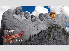 mount rushmore with trump face