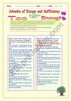 grammar worksheets excessive nominalizations 24768 adverbs of excess and sufficiency and enough esl worksheet by lucetta06