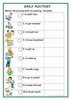routines worksheets daily routines 1 worksheet free esl printable worksheets