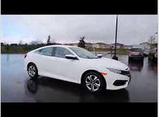 2016 Honda Civic LX   Taffeta White   GH535788   YouTube