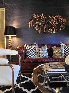Navy Blue Home Decor Ideas by Vintage Navy Blue Living Room With Gold Decor And