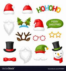 merry christmas photo booth props royalty free vector image