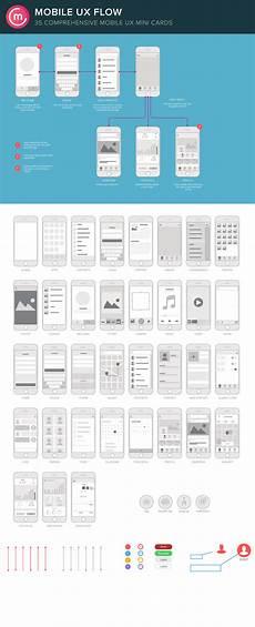 mobile ux flowchart screens sitemap by codemotion design kits creative market ui