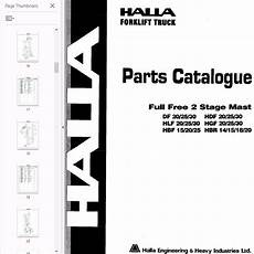 Halla Forklift Wiring Diagram by Halla Forklifts Set Of Pdf Parts And Shop Manuals